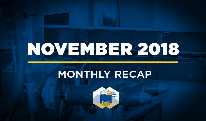 PCAPP Monthly Recap: November 2018