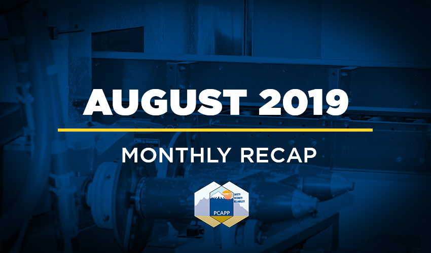 PCAPP August 2019 Monthly Recap