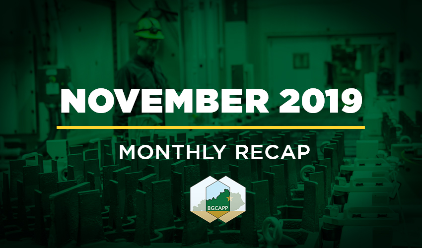 BGCAPP Monthly Recap - November 2019