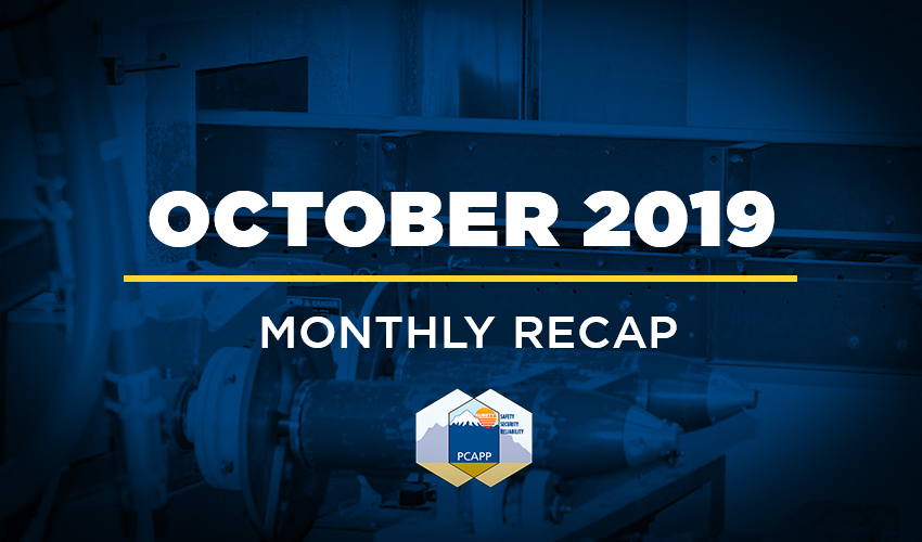 PCAPP Monthly Recap - October 2019