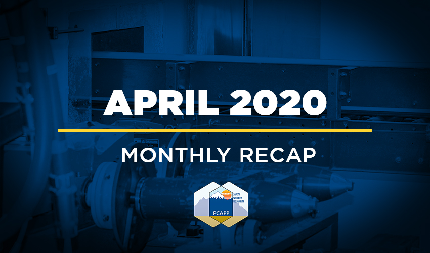 PCAPP Monthly Recap - April 2020