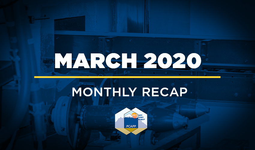 PCAPP Monthly Recap - March 2020