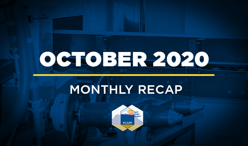 PCAPP Monthly Recap - October 2020