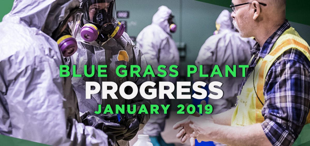 Blue Grass Plant Progress – January 2019