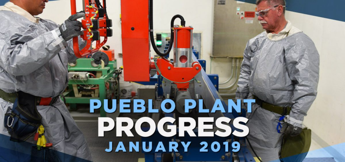 Pueblo Plant Progress - January 2019
