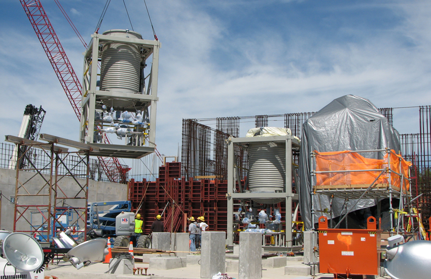 In September 2010, workers placed the third Energetics Neutralization Reactor on its pad in the Munitions Demilitarization Building at the Blue Grass plant. The energetics neutralization system is currently undergoing modification to decrease the formation of hydrogen cyanide in the neutralization process.