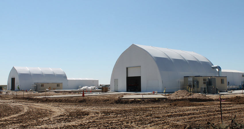View of construction progress at the Pueblo Chemical Agent-Destruction Pilot Plant's Explosive Destruction System site.