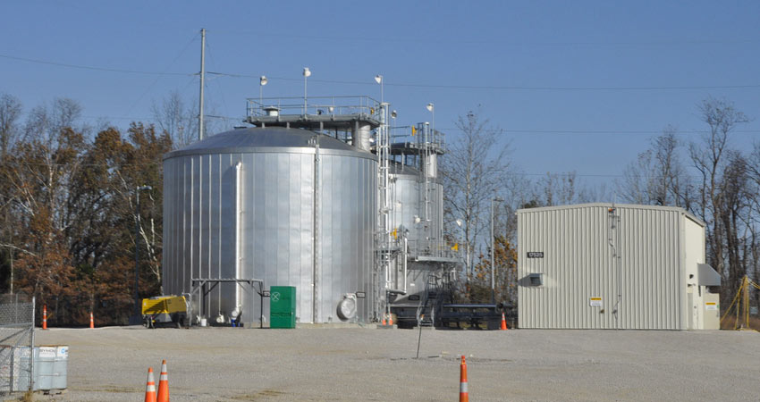 The Fire Water Pump House provides fire suppression support and potable water for the Blue Grass plant.