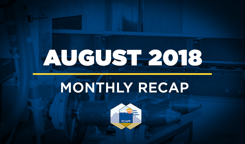 PCAPP Monthly Recap: August 2018