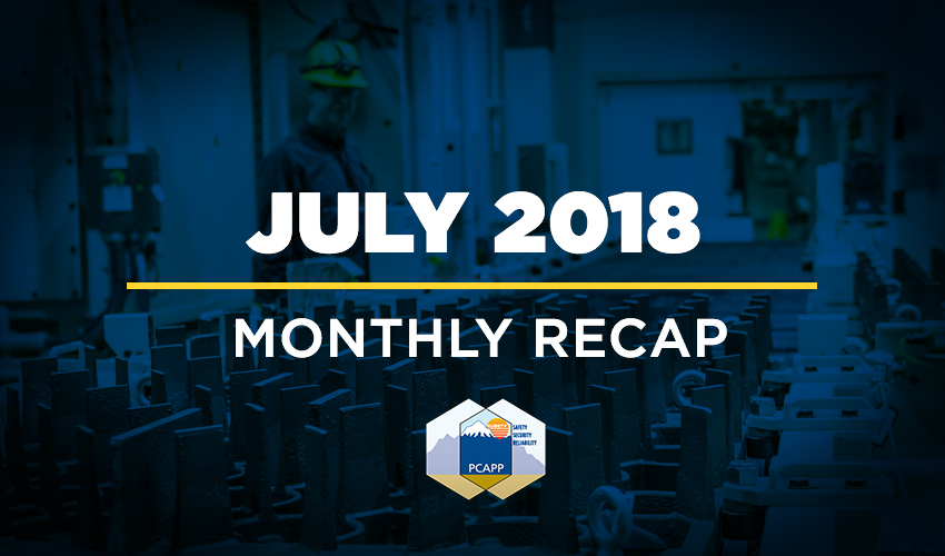 PCAPP Monthly Recap: July 2018