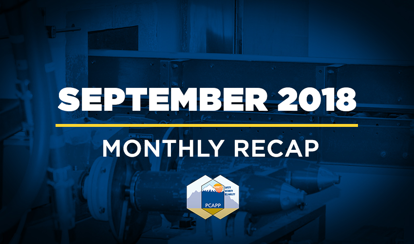 PCAPP Monthly Recap: September 2018