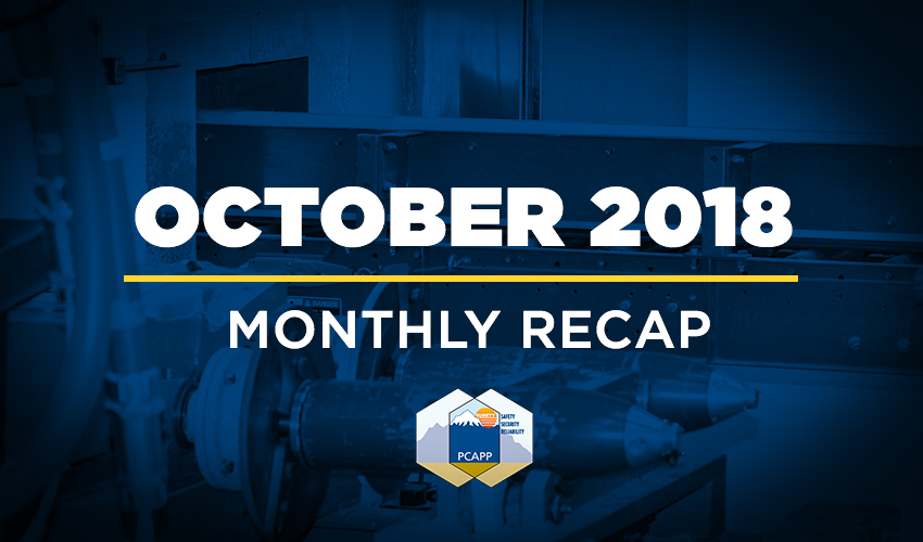 PCAPP Monthly Recap: October 2018