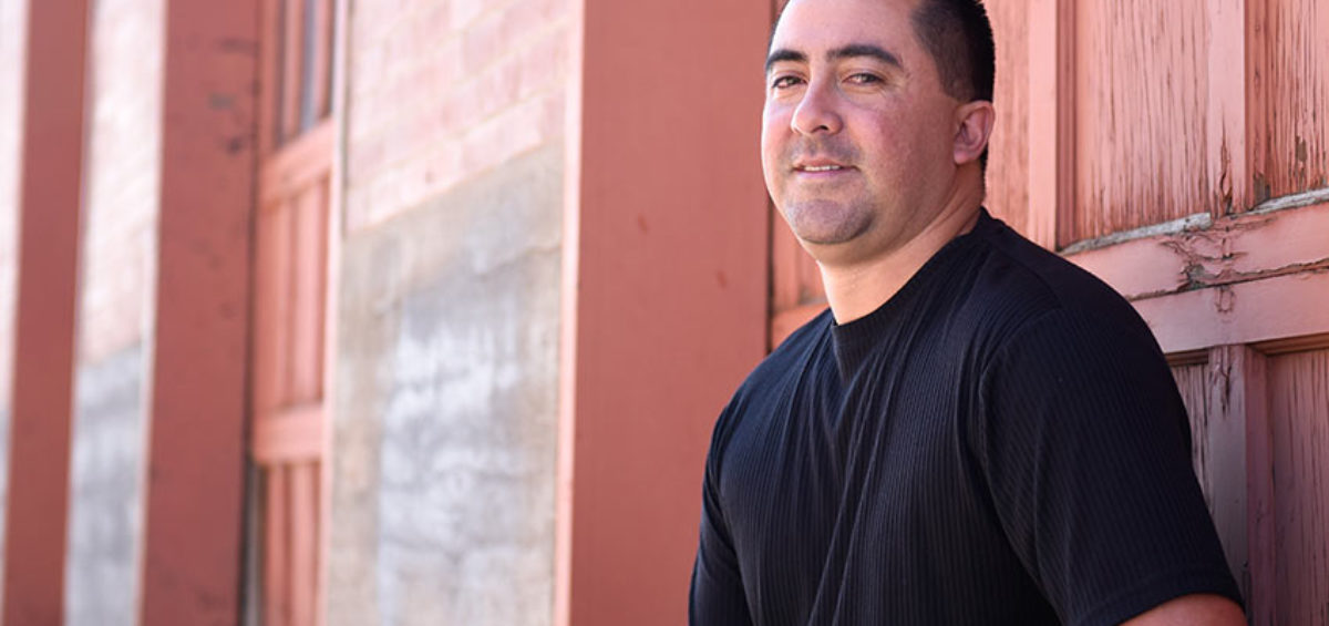David Rodriguez, Pueblo Chemical Agent-Destruction Pilot Plant ordnance technician, poses for a portrait.