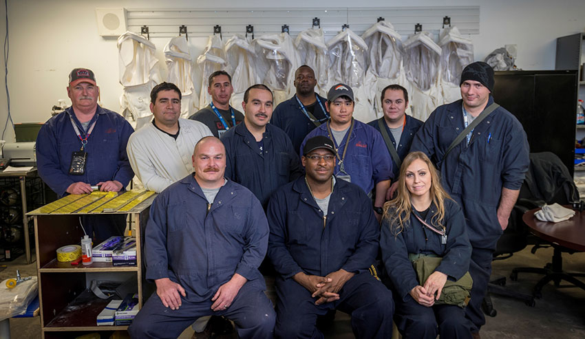 Technicians at the Pueblo Chemical Agent-Destruction Pilot Plant pose for a portrait.