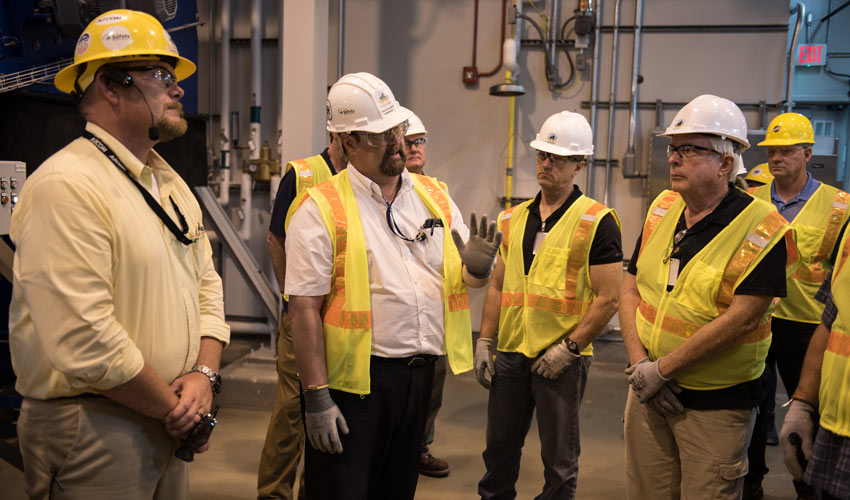 Members of the Colorado Chemical Demilitarization Citizens' Advisory Commission visit the Blue Grass Chemical Agent-Destruction Pilot Plant, Kentucky, for a firsthand look at the technology being considered for augmentation at the Pueblo Chemical Agent-Destruction Pilot Plant.