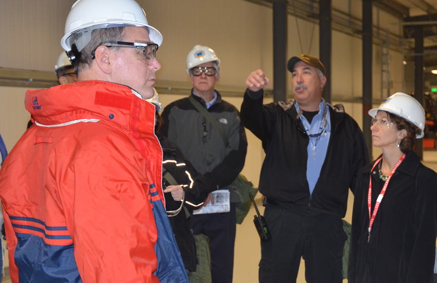 Members of the National Academies of Sciences, Engineering and Medicine toured the Pueblo plant in November. The Academies provide oversight of the chemical demilitarization programs in Colorado and Kentucky.