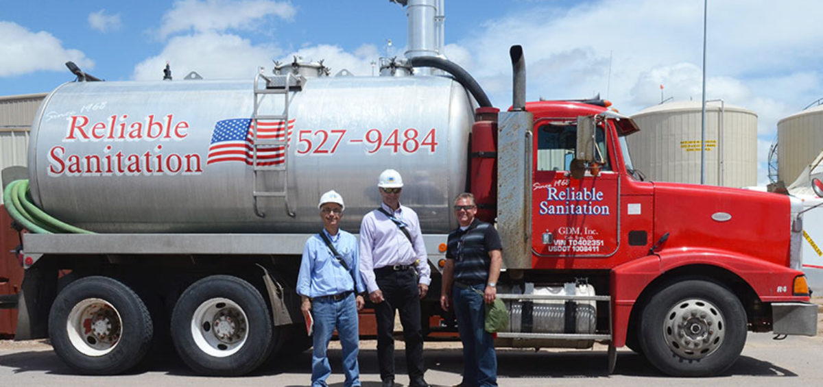 A delivery of biomass from the Pueblo Wastewater Reclamation Facility arrived at the Pueblo Chemical Agent-Destruction Pilot Plant on June 1. The biomass is used to seed the biotreatment process for destruction of thiodiglycol, the main ingredient of agent hydrolysate.