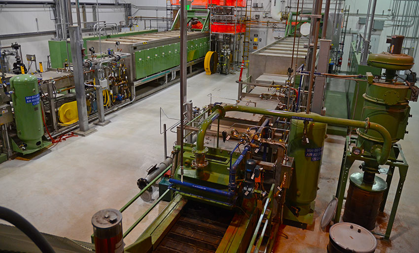 The Pueblo plant's Munition Treatment Units heat munition bodies and mortar baseplates to a minimum temperature of 1,000 degrees Fahrenheit for at least 15 minutes in order to thermally destroy any residual agent.