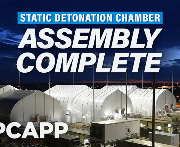 Pueblo Static Detonation Chamber Assembly Completed