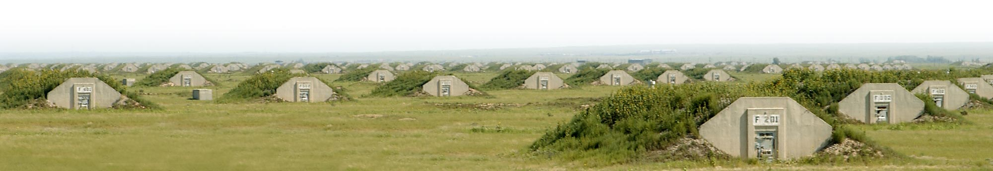 Storage igloos at  The U.S. Army Pueblo Chemical Depot