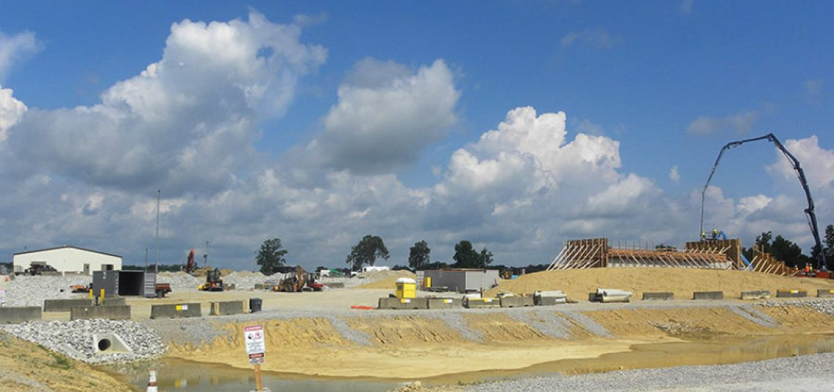 Site preparation continues at the Blue Grass Static Detonation Chamber (SDC) 2000 at the Blue Grass Chemical Agent-Destruction Pilot Plant.