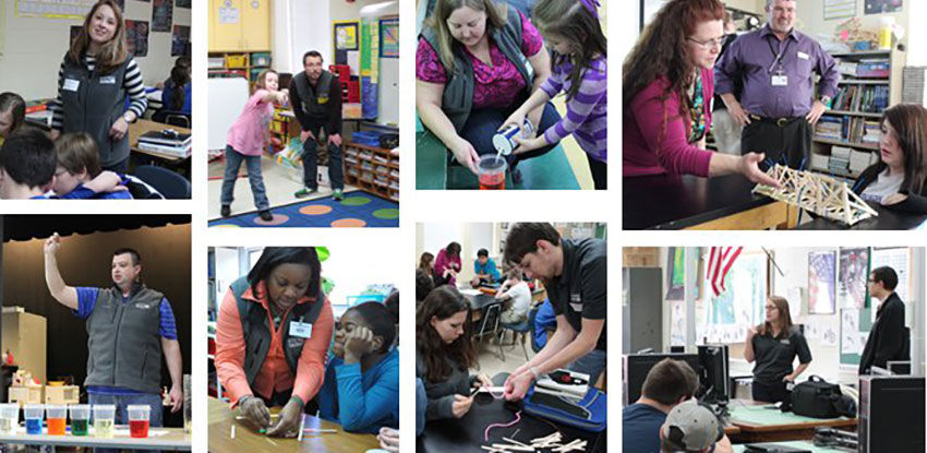 Blue Grass engineers and technical personnel volunteer their time in area science, technology, engineering and math-oriented activities such as science fairs, classroom events and robotics.
